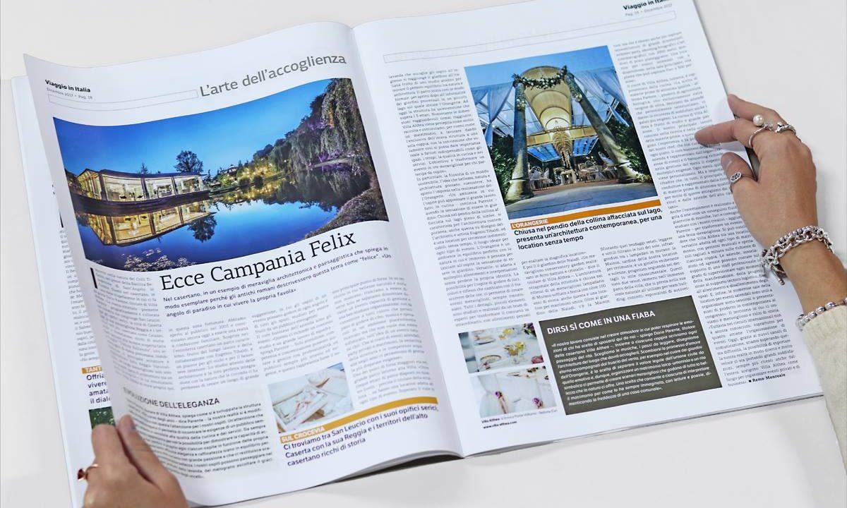 """La rivista """"Viaggio in Italia"""" parla di Villa Althea"""